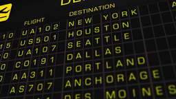 US Domestic Airport Timetable All Flights On Time 02 Animation