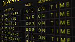 US Domestic Airport Timetable All Flights On Time 04 Animation