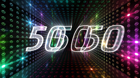 Countdown A60d Stock Video Footage