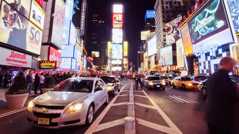 Times Square, Time Lapse Stock Video Footage