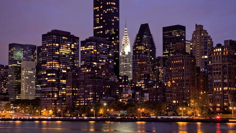New York Skyline, Time Lapse Stock Video Footage