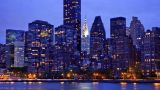 New York Skyline, Time Lapse stock footage