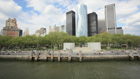 Battery Park Stock Video Footage