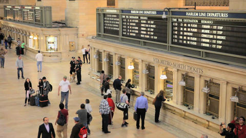 Grand Central Station Ticketing Stock Video Footage
