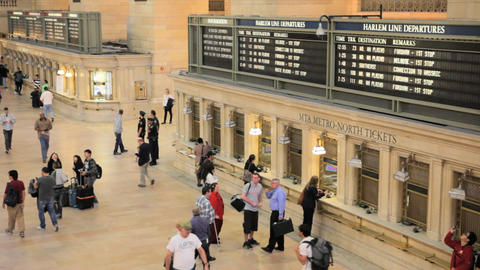 Grand Central Station Ticketing Footage