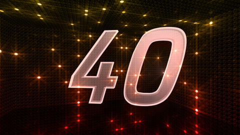 Countdown A60f HD Stock Video Footage