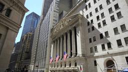New York City Wall Street Tilt Down stock footage