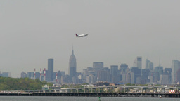 Delta Airlines Arrival New York City LaGuardia Airport Lift Off Take Departure stock footage