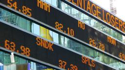 Stock Ticker Market Dow Jones S&P Nasdaq stock footage