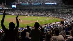 Baseball Game Fans Audience Cheering stock footage