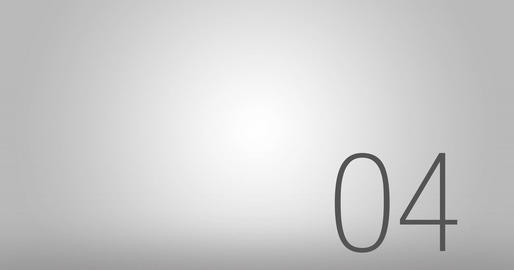 Elegant Countdown Sequence Animation