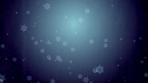Grow Snow Crystal - deep sea Animation