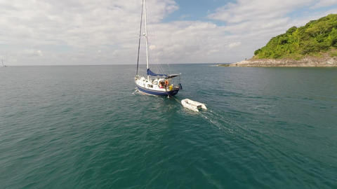 Yacht in the sea Footage