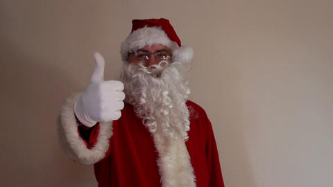 Santa Claus shows his thumb Footage