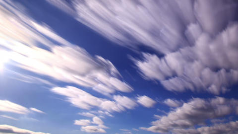 Shadows of clouds in the sky. Clouds blurred. 1280 Footage