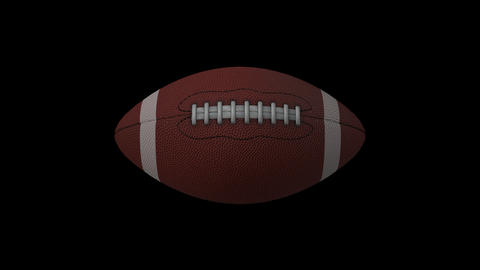 Rotations Of American Football Balls Animation