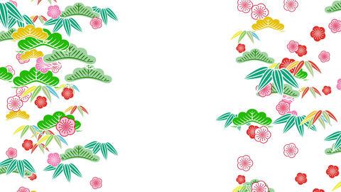 Japanese Pattern Shochikubai C 1 4k Animation