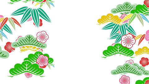 Japanese Pattern Shochikubai Cs 1 4k Animation