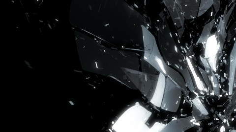 glass shatter in slow motion and motion blur Animation