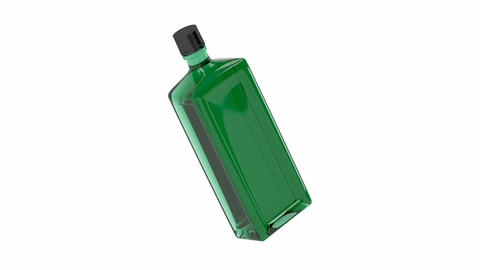 Green alcohol bottle Animation