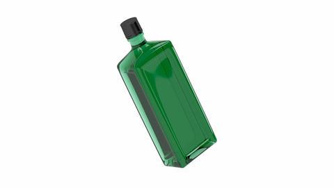 Green alcohol bottle Animation