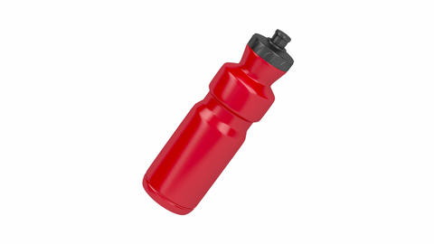 Red plastic water bottle Animation