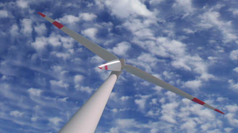 Wind mill low angle zoom time lapse Animation