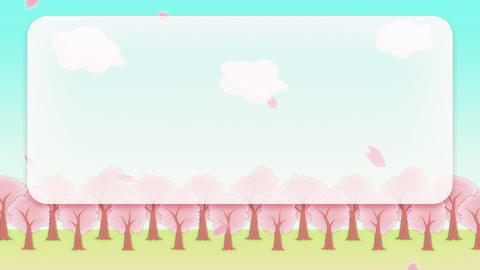 SAKURA - animated BG, telop area Animation