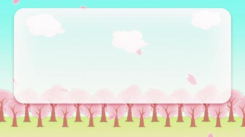 SAKURA - Animated BG, Telop Area stock footage