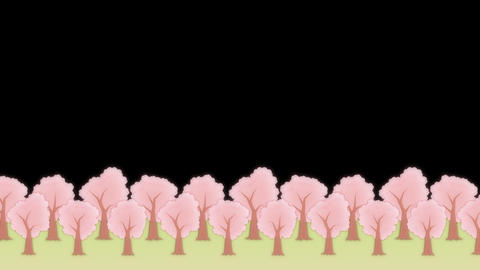 SAKURA - Animated BG, Lower Third stock footage