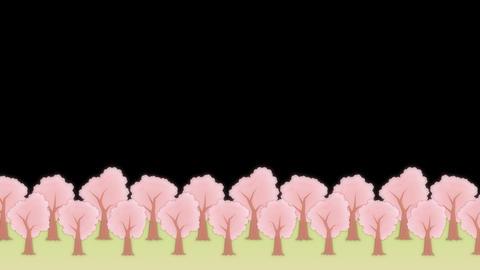 SAKURA - animated BG, Lower third CG動画素材