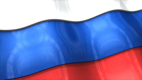 3D flag, Russia Animation