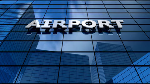 Airport building blue sky timelapse Animation