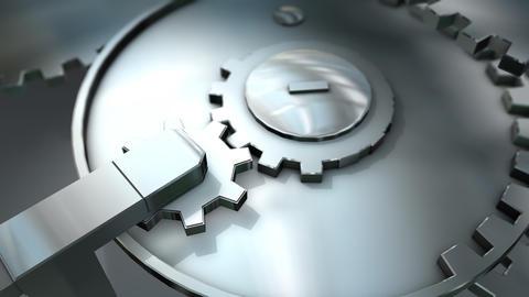 Bidirectional gears mechanic Animation