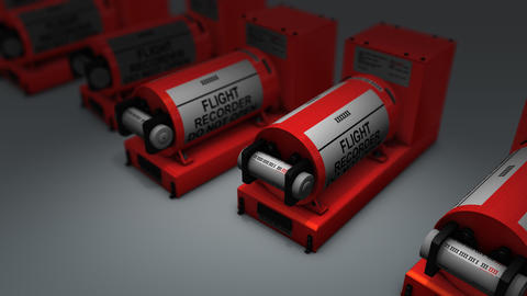 Artist rendering flight recorder, Black box Animation