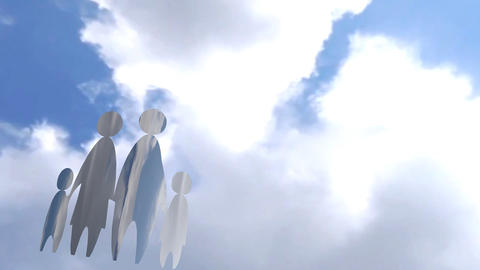 Conceptual Family And Parental Animation stock footage