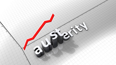 Growing chart graphic animation, Austerity Animation