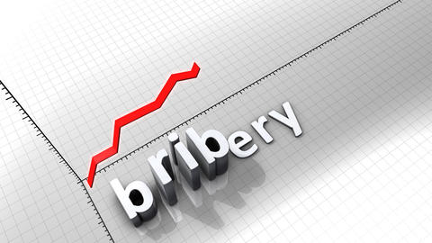 Growing chart graphic animation, Bribery Animation