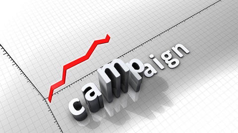Growing chart graphic animation, Campaign Animation