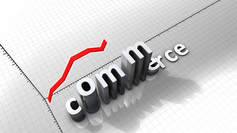 Growing chart graphic animation, Commerce Animation
