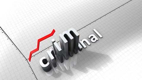 Growing chart graphic animation, Crimimal Animation