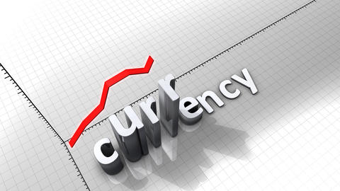 Growing chart graphic animation, Currency Animation