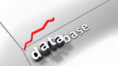 Growing Chart Graphic Animation, Database stock footage