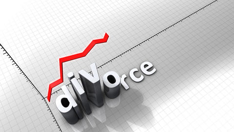 Growing chart graphic animation, Divorce Animation