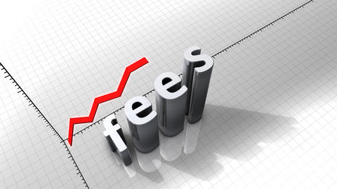 Growing chart graphic animation, Fees Animation