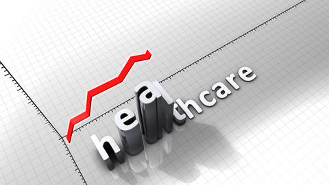 Growing Chart Graphic Animation, Healthcare stock footage