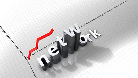 Growing chart graphic animation, Network Animation