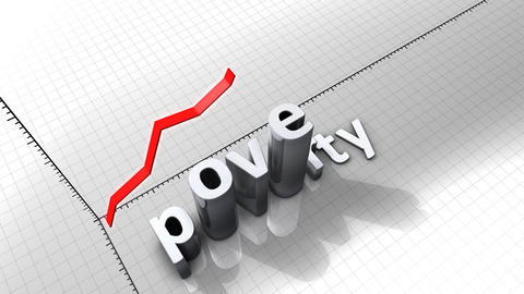 Growing chart graphic animation, Poverty Animation