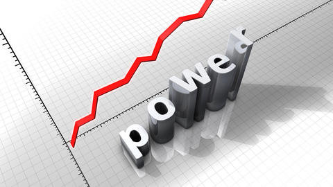 Growing chart graphic animation, Power Stock Video Footage