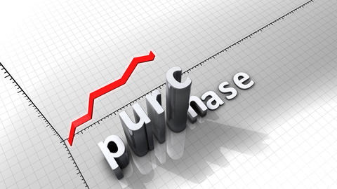Growing chart graphic animation, Purchase Animation